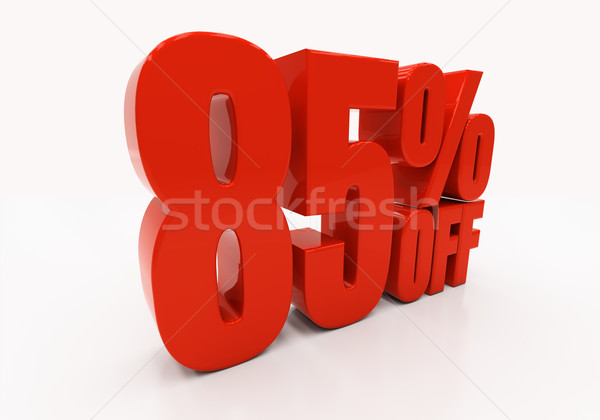 3D 85 percent Stock photo © Supertrooper