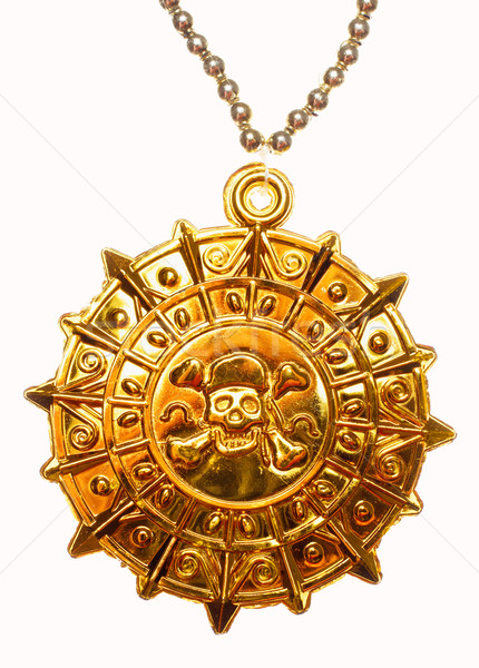 Gold pirate medallion Stock photo © Supertrooper