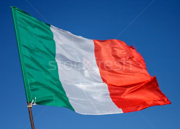 Flag Italy Closeup Stock photo © Supertrooper