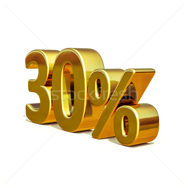 3d Gold 30 Thirty Percent Discount Sign Stock photo © Supertrooper