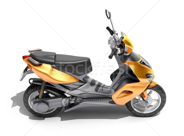 Trendy orange scooter close up Stock photo © Supertrooper