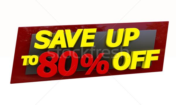 Mettre up expression cadeau vente acheter Photo stock © Supertrooper
