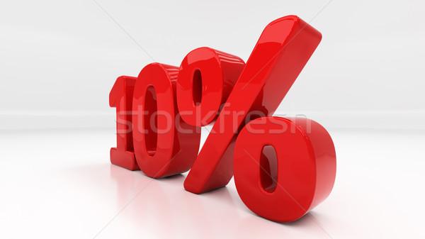 3D десять процент скидка 10 Сток-фото © Supertrooper