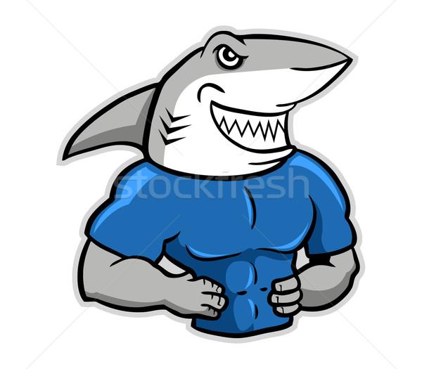 Muscular tubarão animal sorridente força Foto stock © superzizie