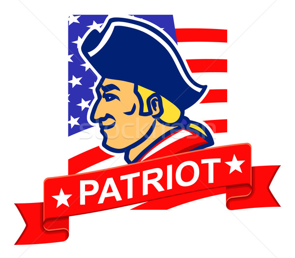 Americano patriota saludo simple placa hombres Foto stock © superzizie