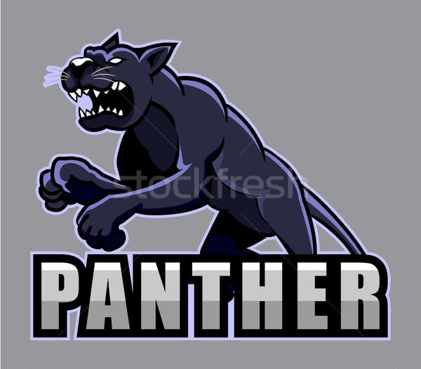 Panther большой черный Сток-фото © superzizie