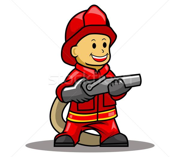 火災 戦闘機 作業 立って ストックフォト © superzizie