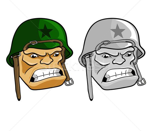 Esercito uomo testa stile colorato Foto d'archivio © superzizie