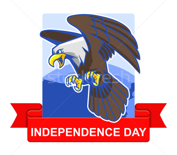 Independence Day Badge Stock photo © superzizie