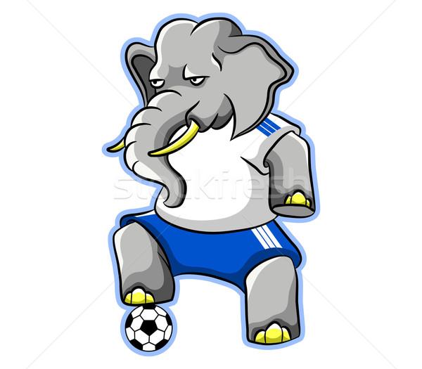 слон Футбол играть устойчивый положение Сток-фото © superzizie