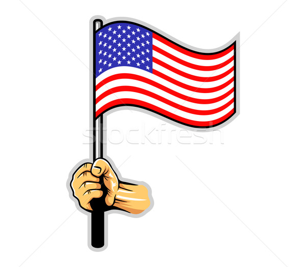 Hand Holding US Flag Stock photo © superzizie