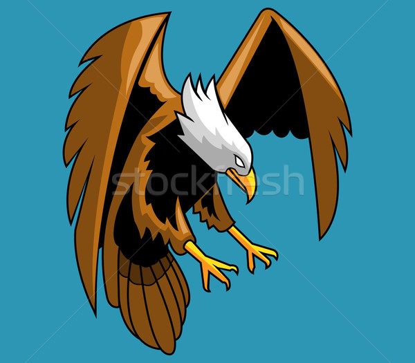 Kaal adelaar vector bestand jonge dier Stockfoto © superzizie