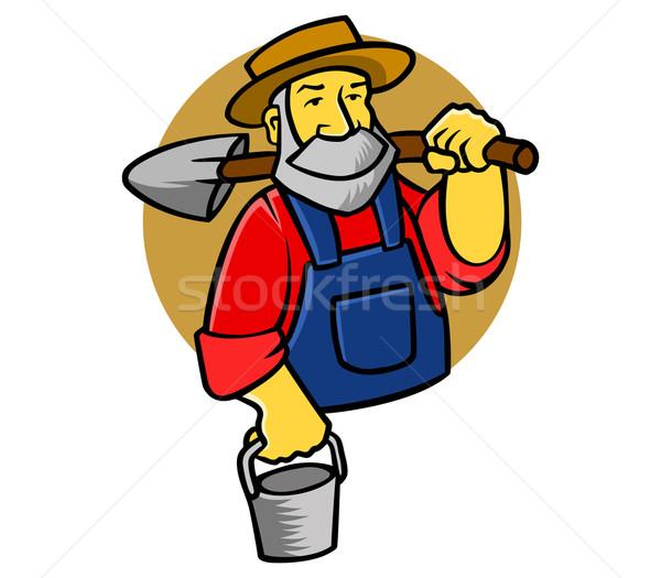 Landbouwer oude Stockfoto © superzizie