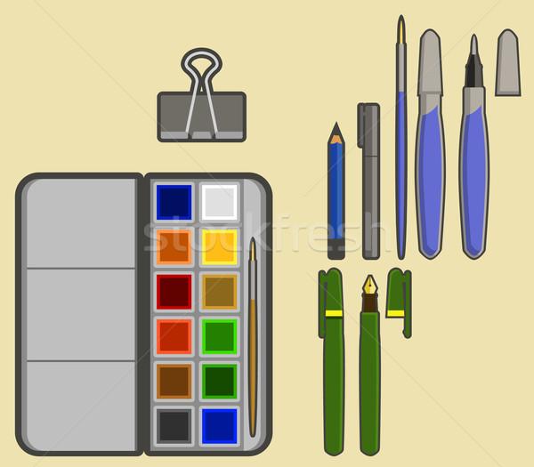 Drawing tools Stock photo © superzizie