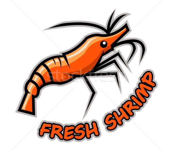 Vers garnalen oranje voedsel vis achtergrond Stockfoto © superzizie