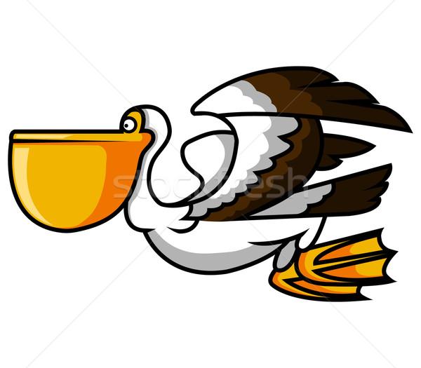 Vogel natuur speelgoed dier cartoon geluk Stockfoto © superzizie