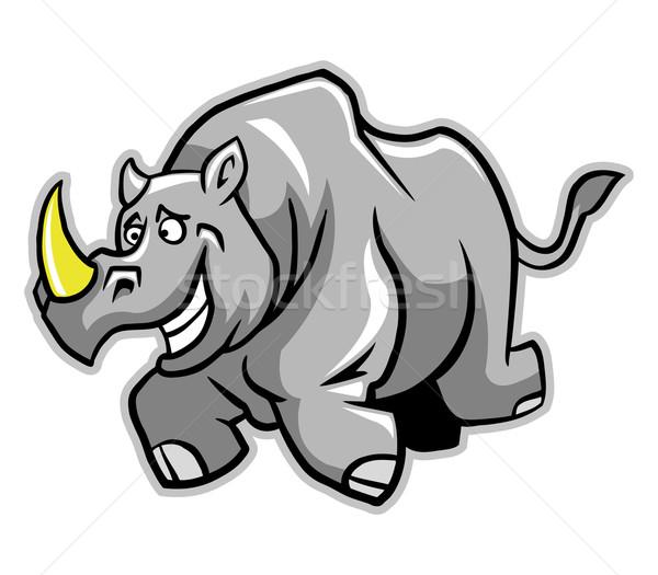 Rhino Run Stock photo © superzizie