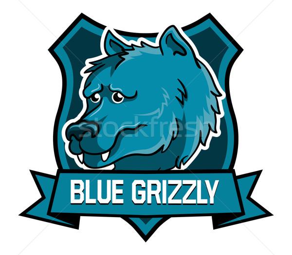 Blauw hoofd goede mascotte Stockfoto © superzizie