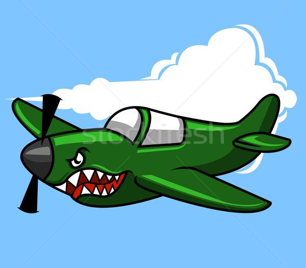 Romboló repülőgép katonaság világ kék repülőgép Stock fotó © superzizie