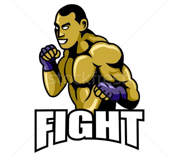Verekedés boxoló állandó pozició kéz iskola Stock fotó © superzizie
