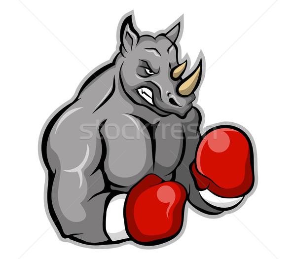 サイ ボクサー ベクトル 漫画 ボクシング 態度 ストックフォト © superzizie