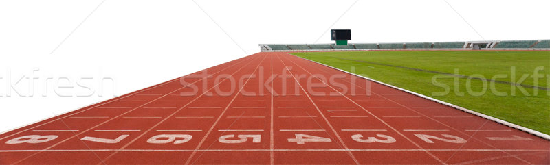 isolated Running track numbers in front of tracks Stock photo © Suriyaphoto