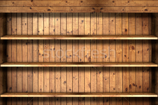 Wooden book Shelf  Stock photo © Suriyaphoto