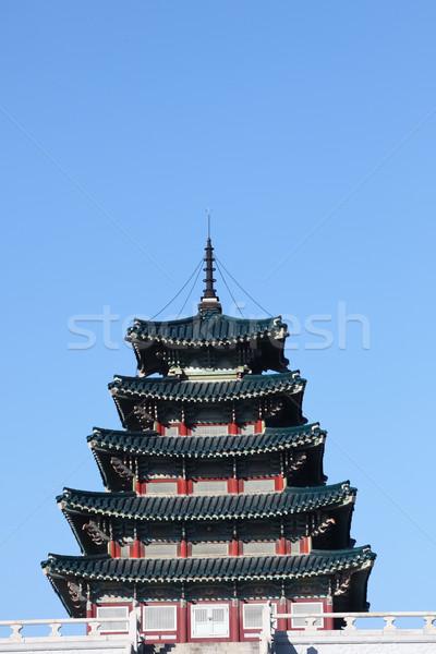 Oude paleis Zuid-Korea reizen bidden kleur Stockfoto © Suriyaphoto