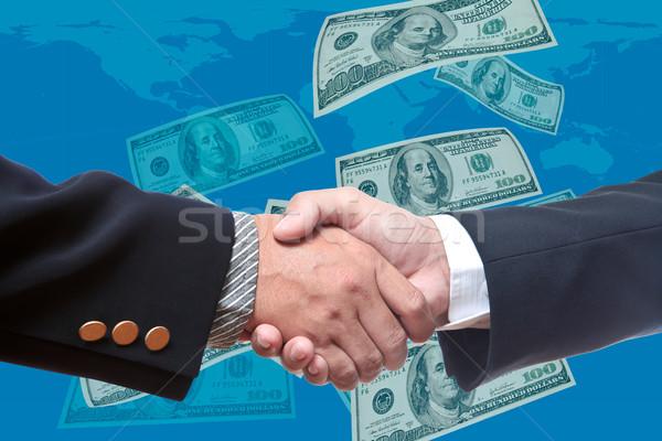 Kéz üzletember üzlet papír férfi keret Stock fotó © Suriyaphoto