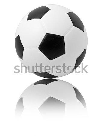 футбольным мячом рефлекс Футбол футбола мяча ногу Сток-фото © Suriyaphoto