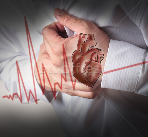 Heart Attack and heart beats cardiogram background Stock photo © Suriyaphoto