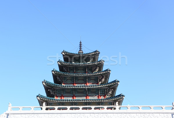 Eski saray Güney Kore seyahat dua renk Stok fotoğraf © Suriyaphoto