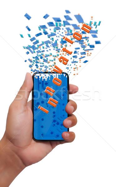 innovation smart phone on hand Stock photo © Suriyaphoto