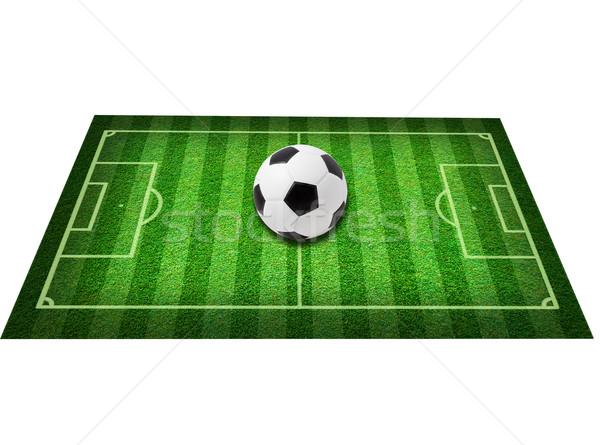 Gerçek yeşil ot futbol sahası futbol soyut yaprak Stok fotoğraf © Suriyaphoto