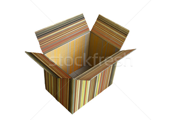Yalıtılmış kâğıt kutu siyah inşaat posta Stok fotoğraf © Suriyaphoto