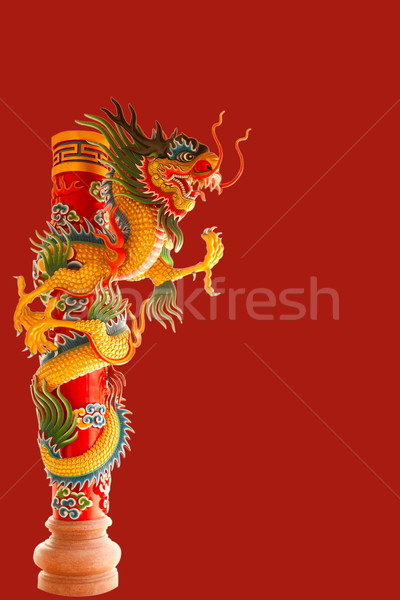Belo dragão chinês céu viajar vermelho arquitetura Foto stock © Suriyaphoto