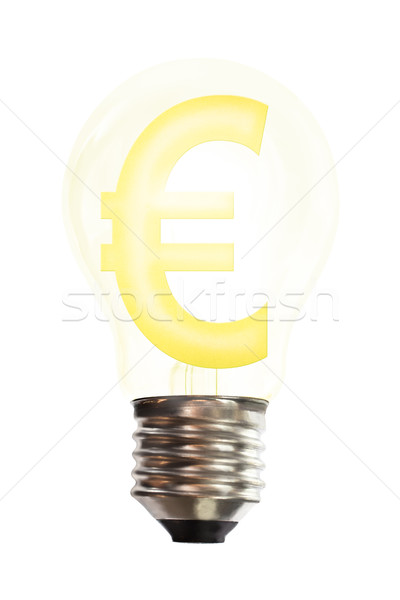 Euro bani semna lumina om de afaceri piaţă Imagine de stoc © Suriyaphoto