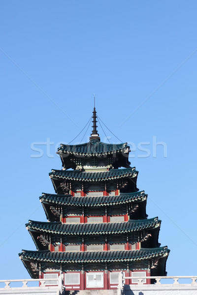 ancient palace in south korea Stock photo © Suriyaphoto