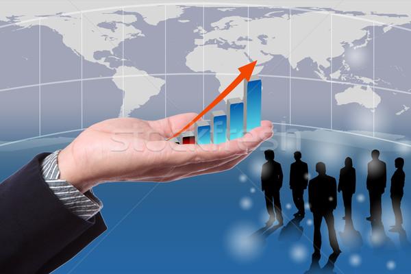 üzletember kéz öko globális emberek áll Stock fotó © Suriyaphoto