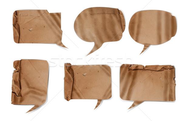 Ondulado papel comunicação vintage nota Foto stock © Suriyaphoto