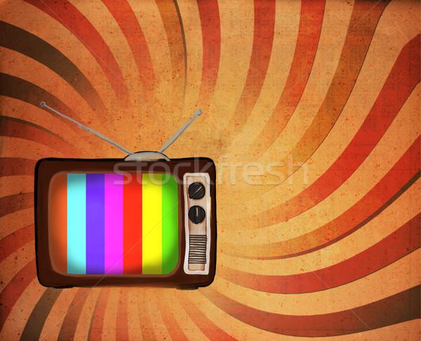 Retro tv televizyon soyut film arka plan Stok fotoğraf © Suriyaphoto