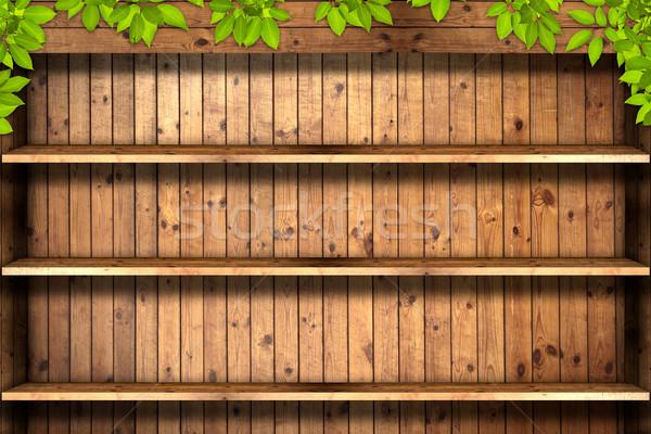 Eski ahşap doku ağaç duvar dizayn arka plan Stok fotoğraf © Suriyaphoto