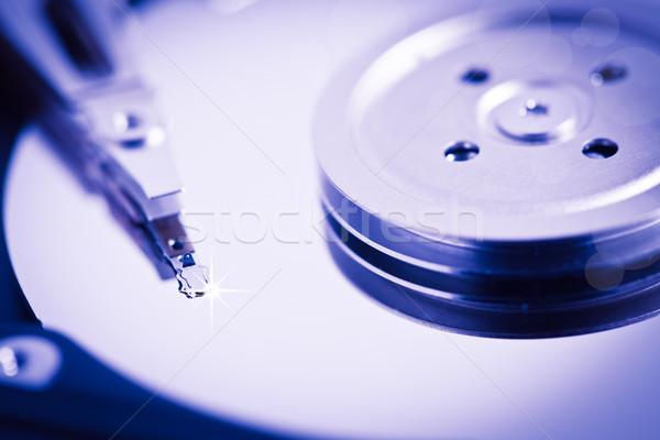 Merevlemez számítógép internet biztonság ipar olvas Stock fotó © Suriyaphoto