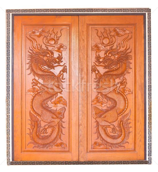 Chineza dragon uşă călători roşu dormi Imagine de stoc © Suriyaphoto