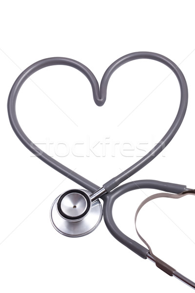 Stetoskop kalp şekli doktor arka plan hastane tıp Stok fotoğraf © Suriyaphoto