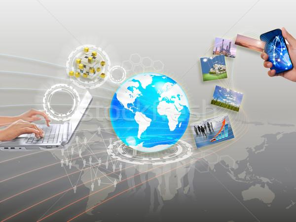 Сток-фото: деловой · женщины · стороны · рисунок · Идея · совета · бизнеса