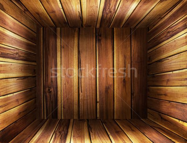 Grunge eski ahşap kutu doku stok antika Stok fotoğraf © Suriyaphoto