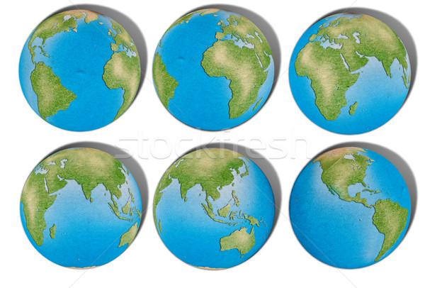 Reciclar mapa del mundo resumen fondo océano web Foto stock © Suriyaphoto