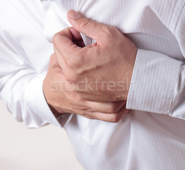 Hartaanval business hart gezondheid mannen pijn Stockfoto © Suriyaphoto