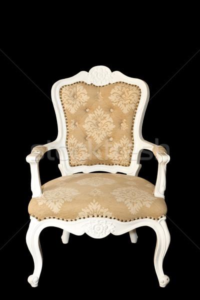 Yalıtılmış lüks kol sandalye siyah moda Stok fotoğraf © Suriyaphoto